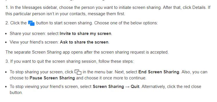facetime screen share steps image