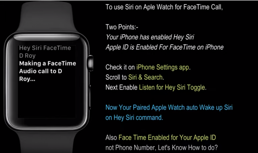 Facetime From iWatch
