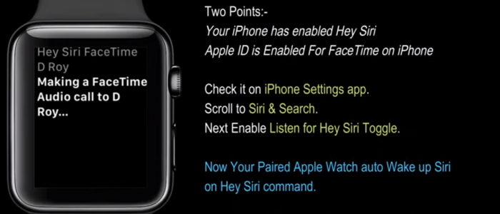 How To Facetime From Apple Watch Tutorial
