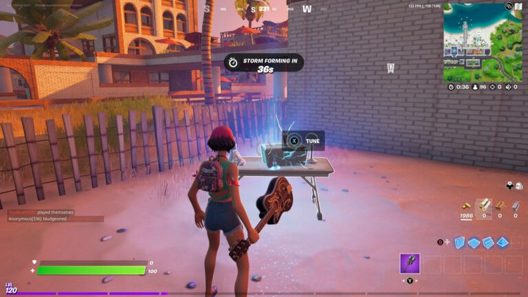 How to interact with a CB radio in Fortnite
