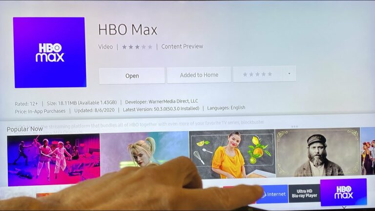 How to update HBO Max on a Samsung TV
