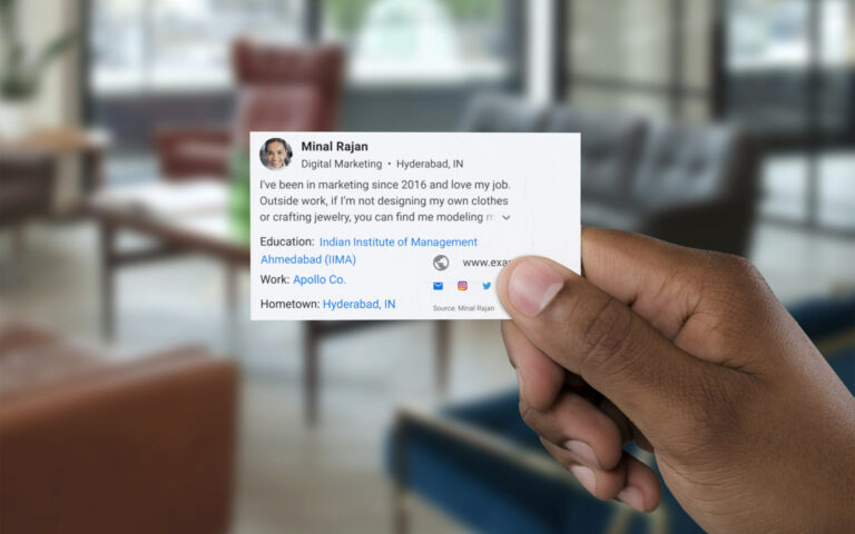 How to create Google 'People Cards