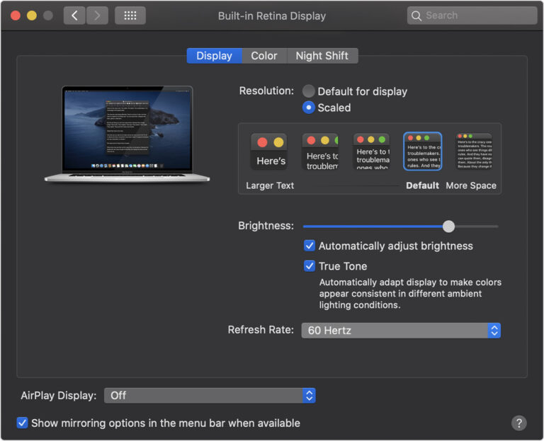 How to change your display's refresh rate on Mac